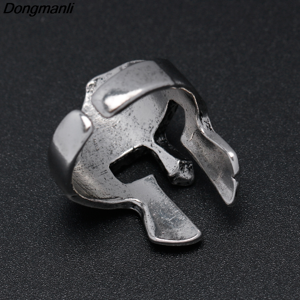M189 Dongmanli New Viking Sparta Ring 316L Steel Ancient Bronze Plated Color Mask Jewelry Exquisite Men Spartan Helmet Ring