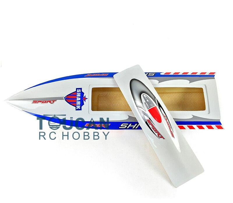 H750 KIT requin Fiber de verre vitesse de course électrique RC bateau coque seulement avancé joueur blanc TH02640