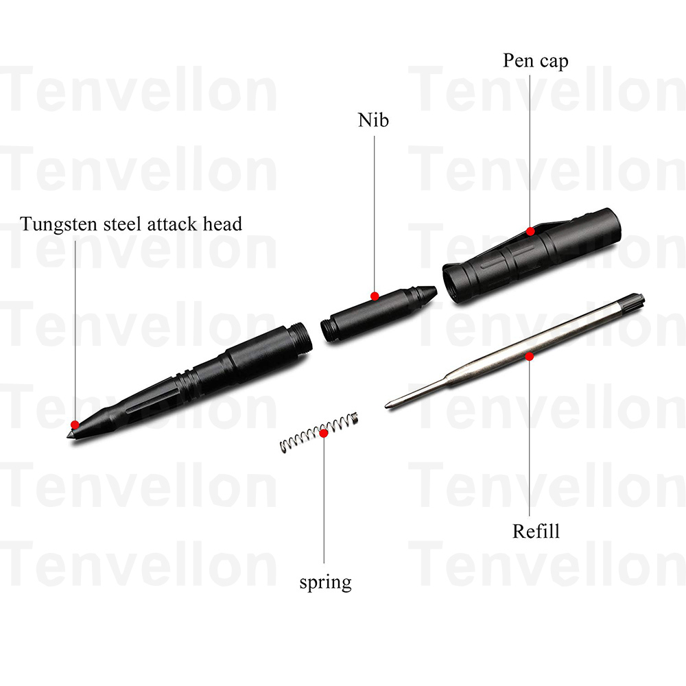 Image 5 - Tenvellon Self Defense Supplies Tactical Pen Tungsten Steel Security Protection Personal Defense Tool Defence Simple Package