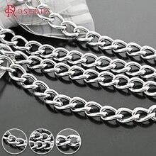 27709-G) 1 метр, 5 мм, 6 мм, 7 мм, 8 мм, нержавеющая сталь, очень крепкие железные УДЛИНЕННЫЕ ЦЕПИ, собачьи цепи высокого качества, соединительные цепи