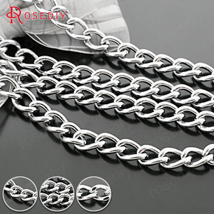 (27709-G)1 Meter 5MM 6MM 7MM 8MM Stainless steel color Very Stronger Iron Extended Chains Dog Chains High Quality Connect Chains