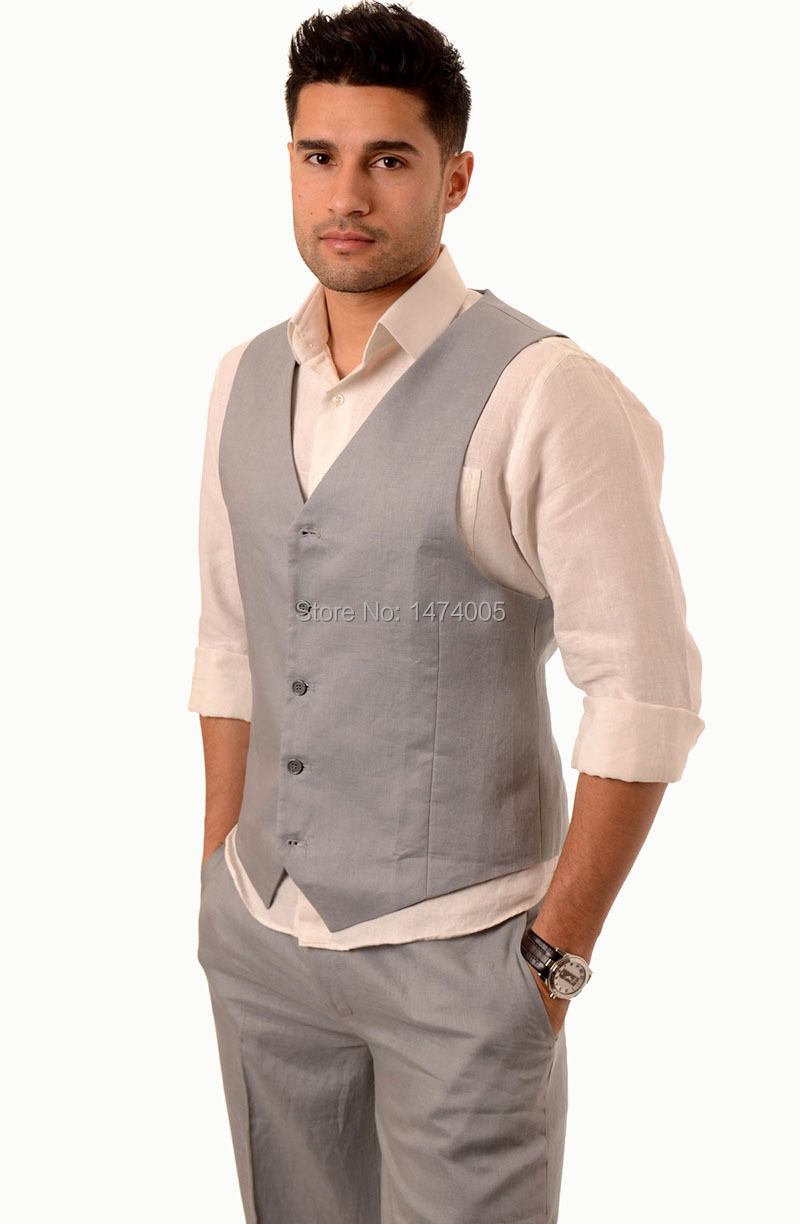Aliexpress.com : Buy custom made 100% Linen Men Vest with pants ...