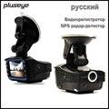 Russian Version 720P Car DVR + GPS Pre-warning Radar Detector G-sensor Dash Cam, 140 Degree Wide-angle Car Cameras Tachograph