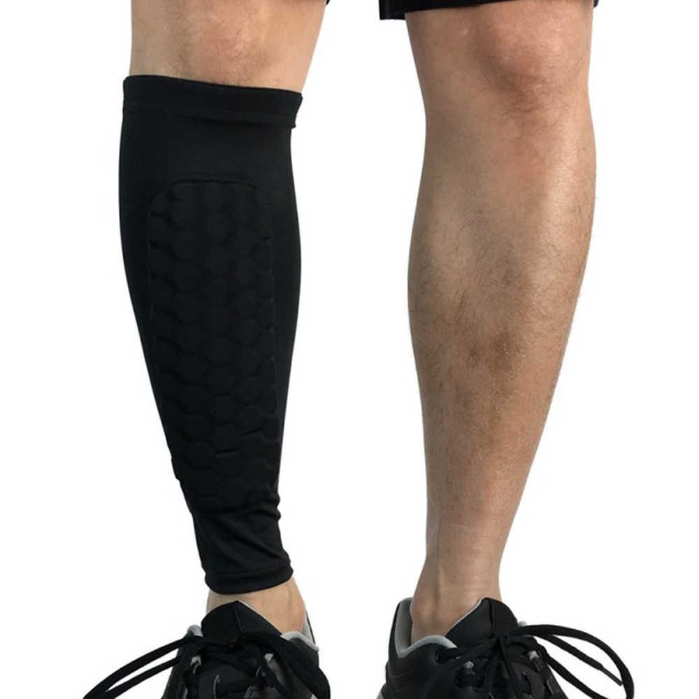 1PC Football Shin Guards Protective Soccer Pad Leg Basketball Training Sport Men