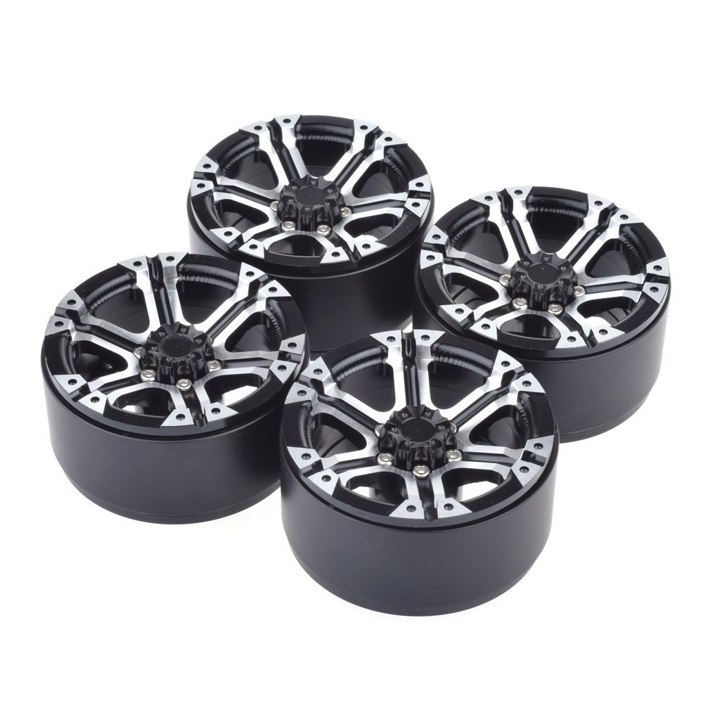1/10 RC Car Aluminum Alloy 1.9 Beadlock Wheel Rim for Axial SCX10 90046 Traxxas TRX4 Tamiya CC01 D90 D110 RC Crawler Car 4pcs 1 10 scale rc climb car 1 9 beadlock crawler wheels rims for rc4wd scx10 cc01 alloy aluminum spoke wheel rim