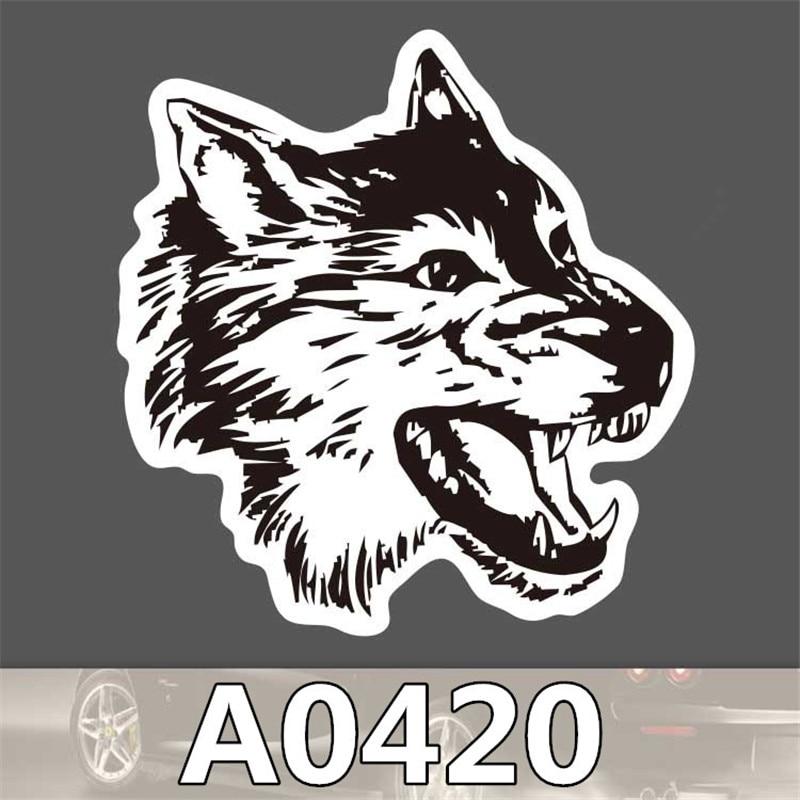 A022 WOLF WITH DICE VINYL STICKER