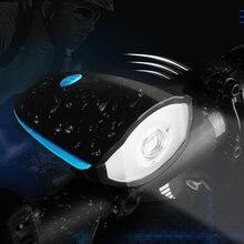 Фотография MEGA HILL Mountain waterproof bike headlamp headlights bright flashlight USB charging electric horn riding equipment accessories