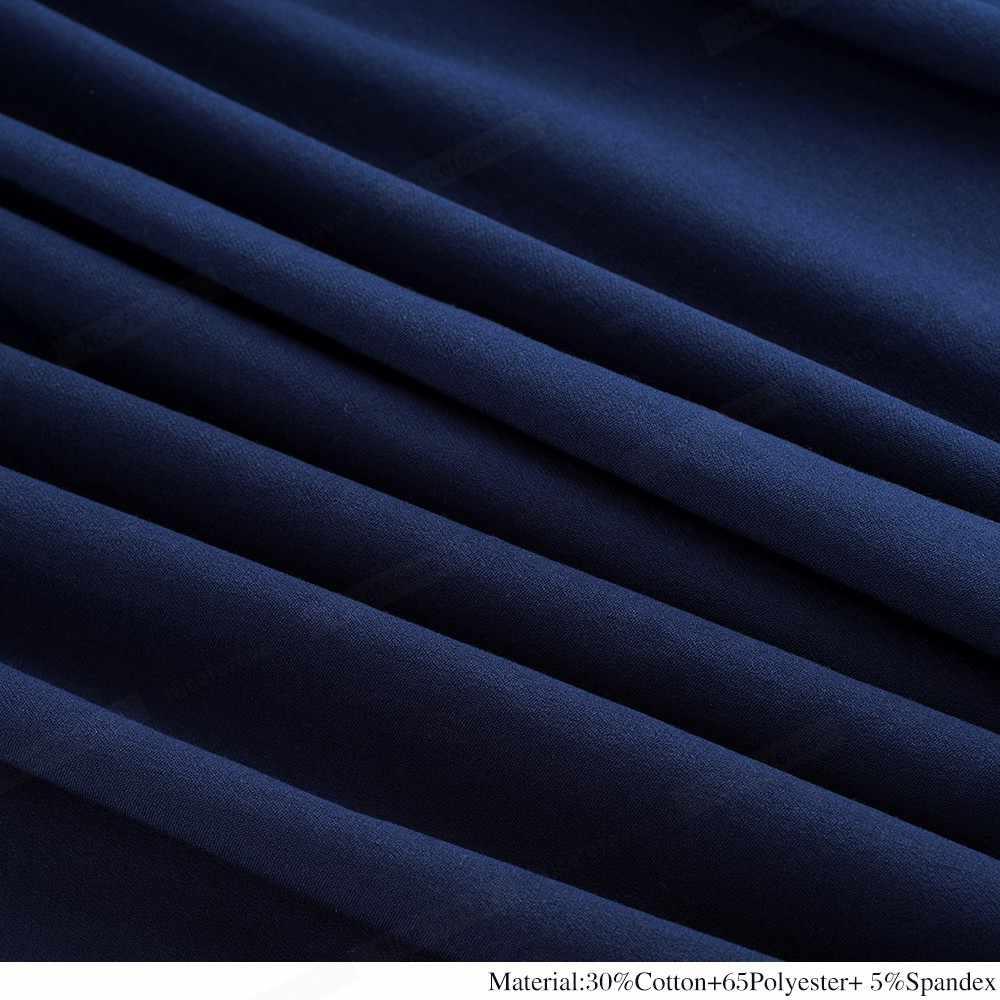 Женское винтажное деловое платье Nice-forever, лоскутное и расширяющееся книзу платье-колокол контрастного черного и темно-синего цвета с полосками и половинчатой длиной рукава, 2019