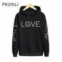 Pkorli Lil Peep LOVE Sweatshirt Men Women Casual Pullover Hip Hop Lil Peep Rapper Hoodies Sad