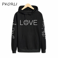 Pkorli Lil Peep LOVE Sweatshirt Men Women Casual Pullover Hip Hop Lil Peep Rapper Hoodies Sad