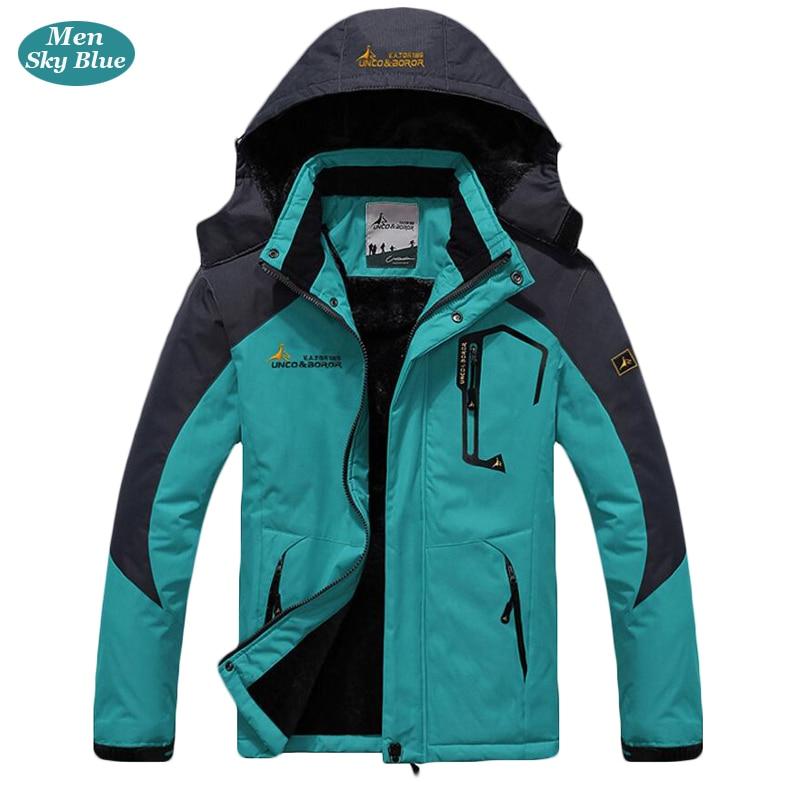 UNCO&BOROR winter jackets men women`s outwear fleece thick warm cotton down coat waterproof windproof parka men brand clothing 18