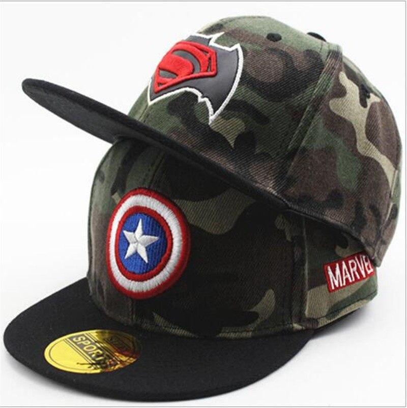 af9eaca8775 Kids Camouflage Baseball Caps Hip Hop Cap Children Boys Girls Flat Hats  Snapback