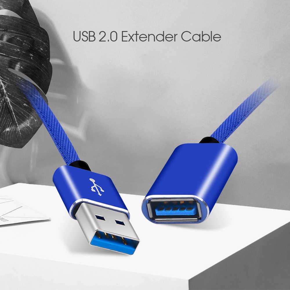 Extensor de extensión de Cable USB2.0 de 1 M Cable macho a hembra Cables de datos USB para impresora de teclado de PC juego de ratón de cámara controlador