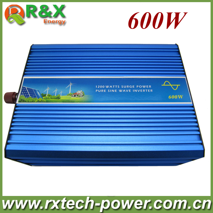 600w off grid inverter pure sine wave power inverter, DC12/24V DC to AC100/110/220V. Used for solar&wind power system wind power generator 400w for land and marine 12v 24v wind turbine wind controller 600w off grid pure sine wave inverter