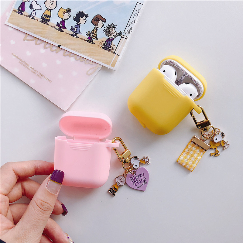 Cute Cartoon Silicone Case For Apple Airpods Case Accessories Bluetooth Earphone Headphone Protective Cover Decorative Box Bag