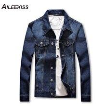2019 New Fancy Brand Jaqueta Masculina Denim Jacket Streetwear Men College Casual Outwear Jeans Jackets Korean Style M-4XL XT662