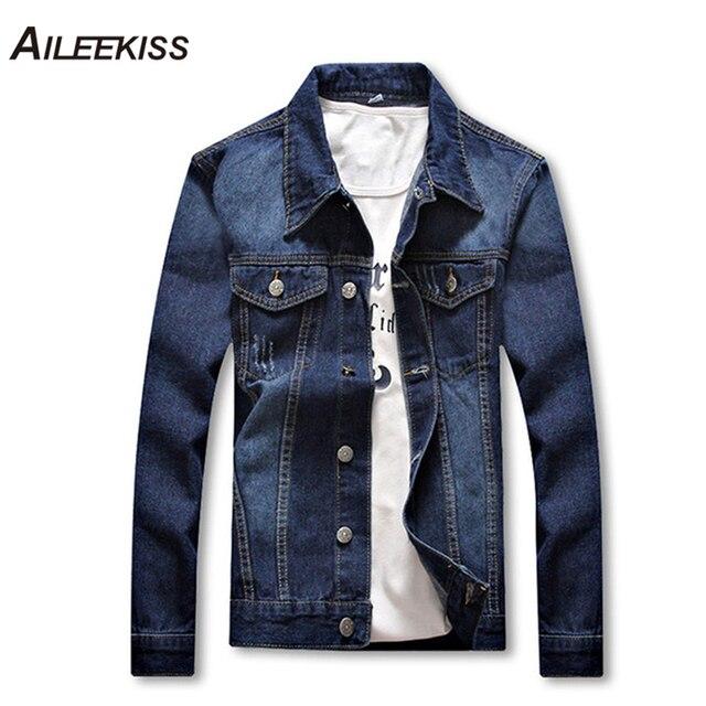 f27e5509642 2019 New Fancy Brand Jaqueta Masculina Denim Jacket Streetwear Men College  Casual Outwear Jeans Jackets Korean