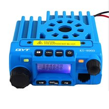 25W MINI Mobile Radio QYT KT-8900 Dual Band 136-174MHz & 400-480MHz Walkie Talkie Transceiver in Blue