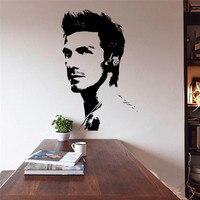 Berühmte fußballer David Beckham fashion art Vinyl wandaufkleber wohnzimmer schlafzimmer wandtattoos wohnkultur