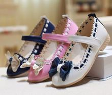 Hot Spring and Autumn explosion fashions footwear Korean ladies princess Single footwear children youngster Peas footwear bow child footwear tide