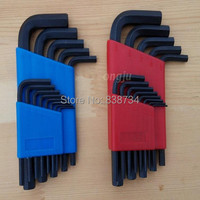 26pcs Set Steel With Black Oxide Hex Key Set Allen Key Wrench Tool Handle