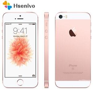 Оригинальный разблокированный Apple iPhone SE Dual Core сотовые телефоны 12MP iOS по отпечатку пальца герметичный телефон 2 Гб ОЗУ 16гь/64 Гб ПЗУ