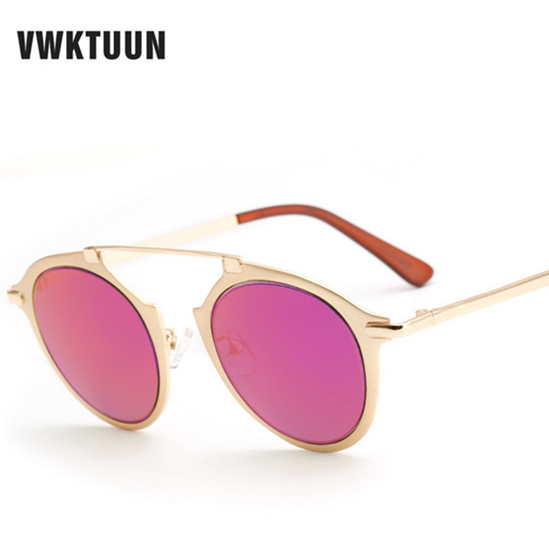 56016d7bdd748 VWKTUUN Olhos de Gato Óculos De Sol Das Mulheres Dos Homens Marca Designer Óculos  de Sol de Grandes Dimensões Para A Mulher 2016 Do Vintage Dos Homens ...