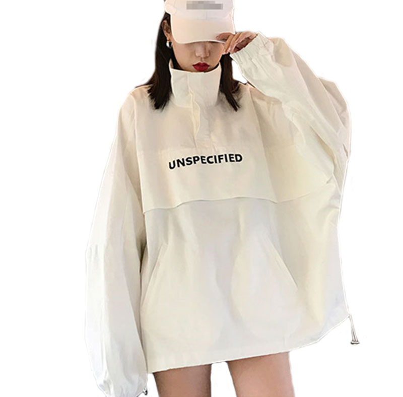 Spring Casual pullover jacket Unisex Plus Size Coat Embroidery Jacket Women Autumn Cotton Windbreaker Coat Streetwear Jacket