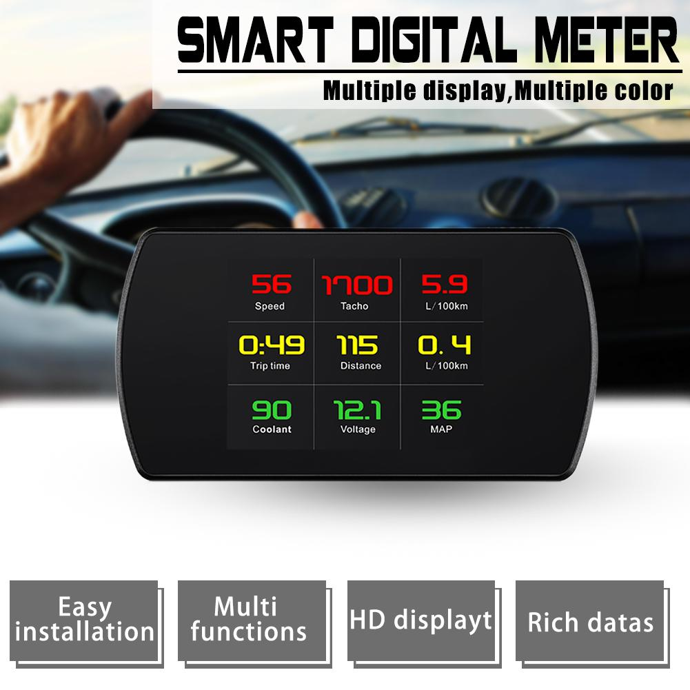 P12 4.2 LCD OBD HUD Head Up Display Digital Car Speed Projector On-Board Computer OBD2 Speedometer Windshield Projetor цены