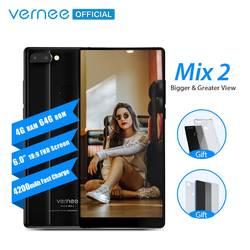 Vernee Mix 2 мобильный телефон 4 г ОЗУ 64 г ПЗУ MTK6757 Восьмиядерный 6,0 дюймов 18:9 дисплей 13.0MP Android 7,0 смартфон двойная задняя камера