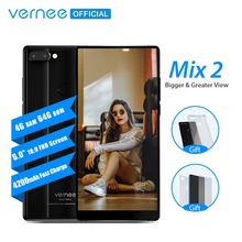 Vernee Mix 2 Cep Telefonu 4G RAM 64G ROM MTK6757 Octa çekirdek 6.0 Inç 18:9 Ekran 13.0MP Android 7.0 Smartphone Çift Arka Kamera