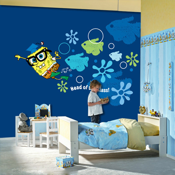 Compare prices on spongebob vinyl online shopping buy low for Cartoon wall mural