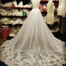 Wedding-Dress Bride Tail-Veil-Ee5678 Lace The Detachable Fishtail Luxurious