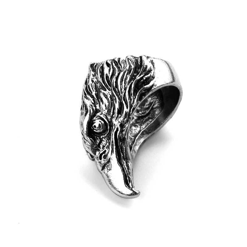 Steampunk elang Kepala Cincin Biker Keren Perhiasan Unik Hadiah Untuk Man Antique Perak Plating Cincin Untuk Wanita