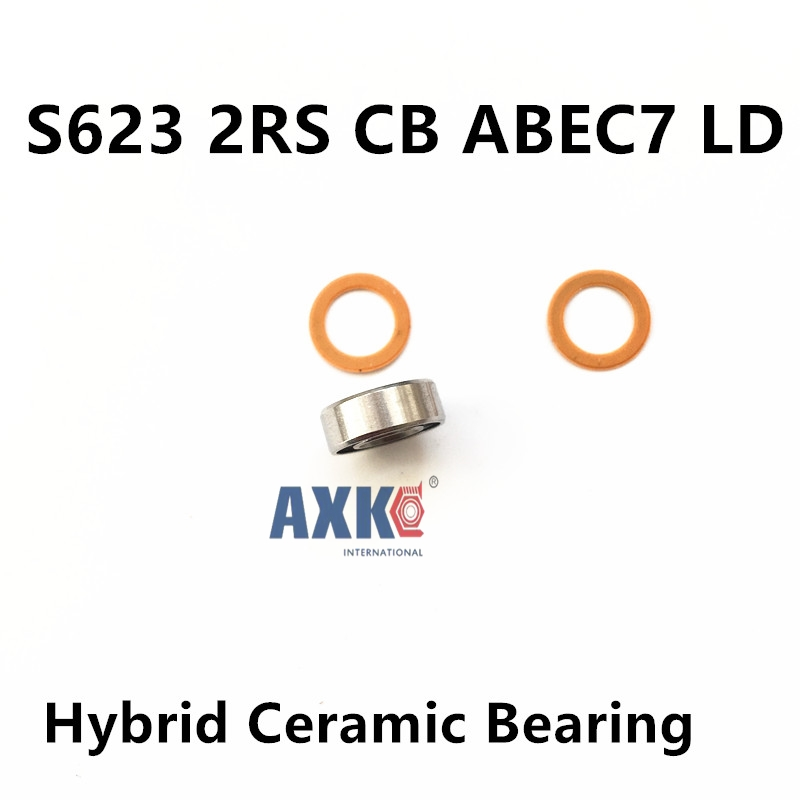 Free shipping SS623-2RS S623 SS623 623 3*10*4 Miniature bearing stainless steel hybrid ceramic bearing for fishing vessels free shipping 50pcs lot miniature bearing 688 688 2rs 688 rs l1680 8x16x5 mm high precise bearing usded for toy machine