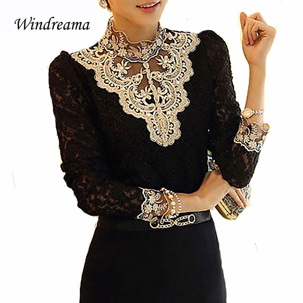 Windreama Fashion Women Sexy Casual Shirts Full Sl...