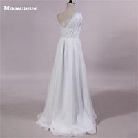 2017 Real Photos Bohomian Style One Shoulder Chiffon Lace Beach Wedding Dresses Custom Made New Bridal