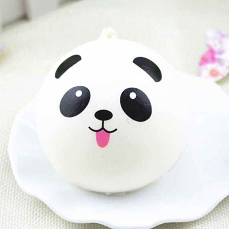 بطيئة ارتفاع اسفنجي كارمز الأشرطة مكافحة الإجهاد لعب صغيرة دونات الباندا أرنب خنزير الفرنسية باكيت ختم الأسود الشوكولاته الحلو لفة