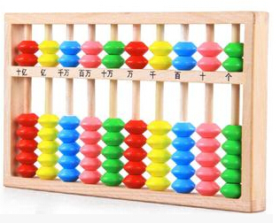 Mathematical arithmetic activities Color wooden abacus Educational Baby toys