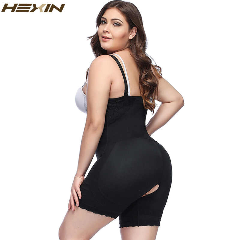 a3eefe5e93c ... HEXIN Plus Size Clip and Zip Shapewear Waist Slimming Shaper Corset  Brief Butt lifter Strap Body ...