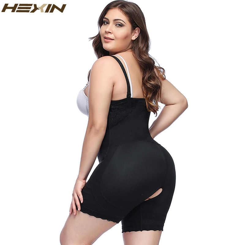 c6ec2f19b ... HEXIN Plus Size Clip and Zip Shapewear Waist Slimming Shaper Corset  Brief Butt lifter Strap Body ...