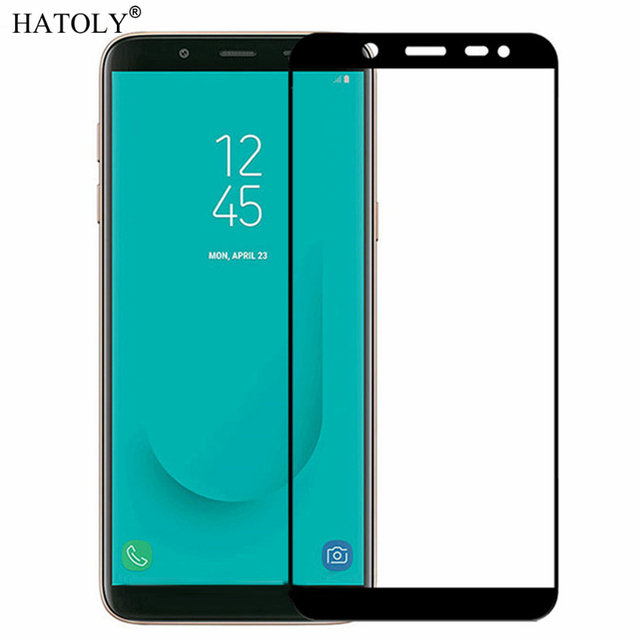 92f516ff04a 2PCS Tempered Glass For Samsung Galaxy J6 2018 Screen Protector J600G Full  Cover for Samsung J6