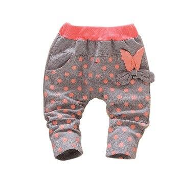 Baby girls pants 0-4 Years Dot print toddler girls long pants cotton material 2018 new design baby girls fashion school pants Baby Pants