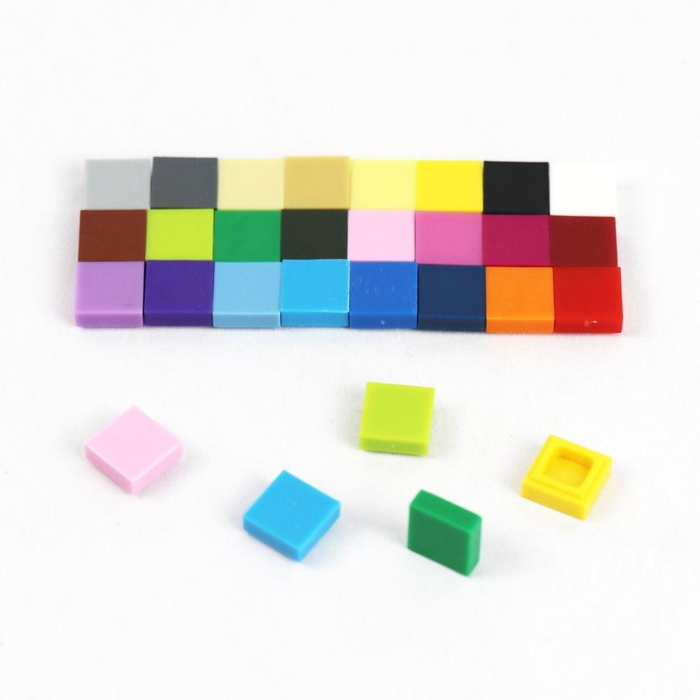 100 шт. строительные блоки кирпичные части плитка 1x1 3070 классические строительные блоки игрушки оптом для детей