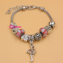 Fashionable Jewelry European Bracelet Heart Hallow Ball Love Bead Ballerina Charm Bracelets For Women