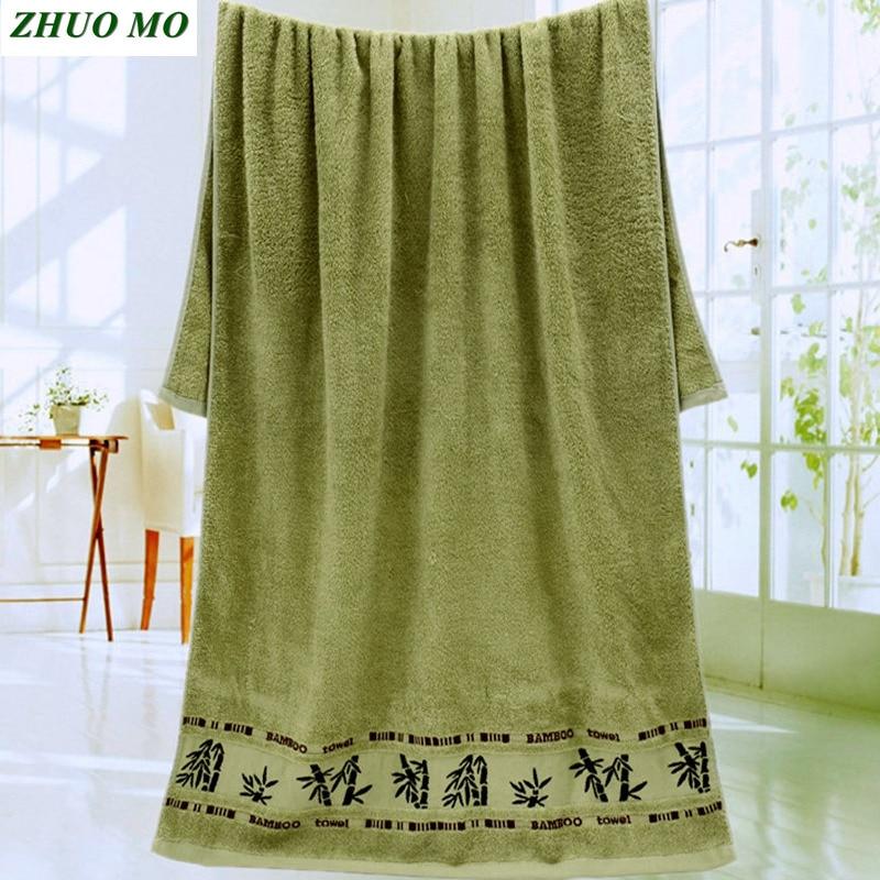 Home 70 * 140cm Bamboo Soft Bamboo fiber Towel Bath Beach Bathroom face Hair Terry Towel Kids Adults House Microfiber Towel