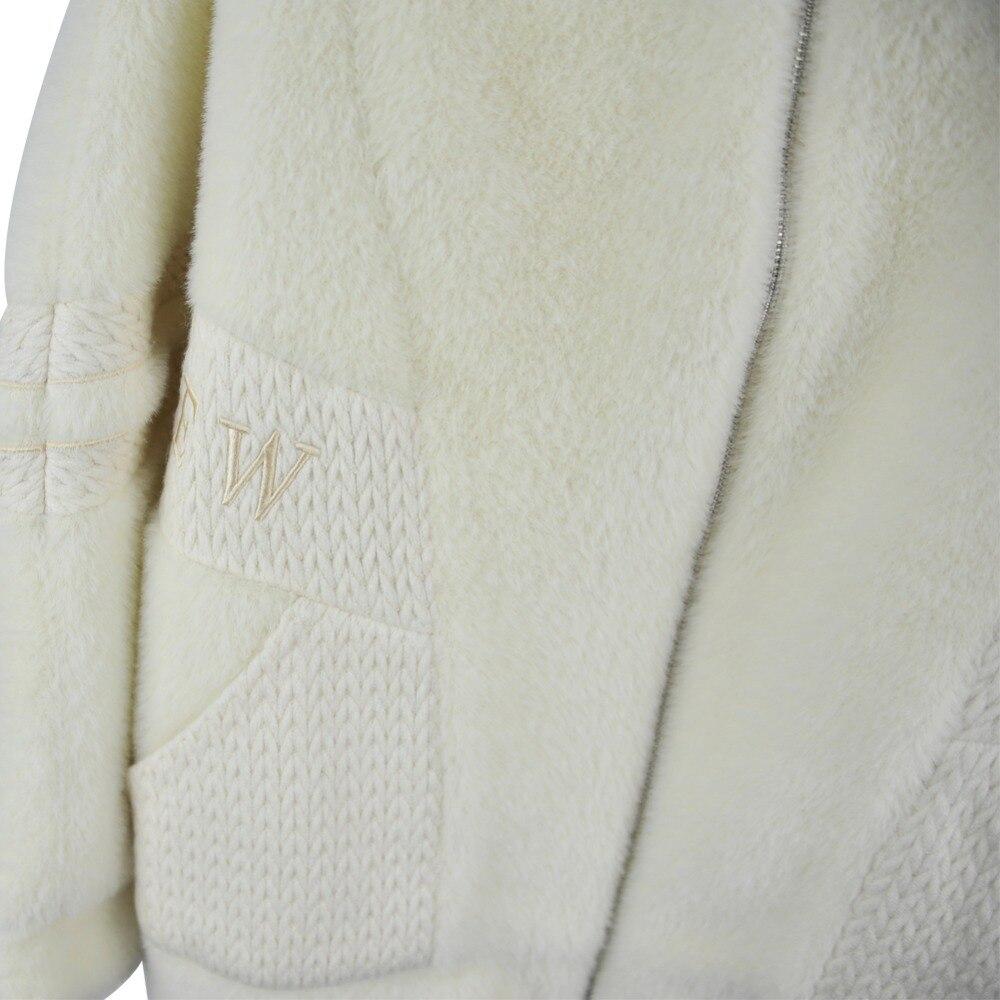 Maylooks D'hiver Épaisse Le Pardessus Femmes Bas Chaude De Beige 2018 617 Vers Blanc Véritable Moutons Manteau Nouveau Fourrure Tournent Des Laine Tonte Veste wSxwOqr