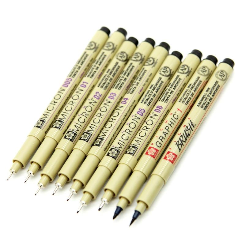 Sakura Pigma Micron rollerball 05 Fine line Drawing Pen Blue ink  x 6 pcs