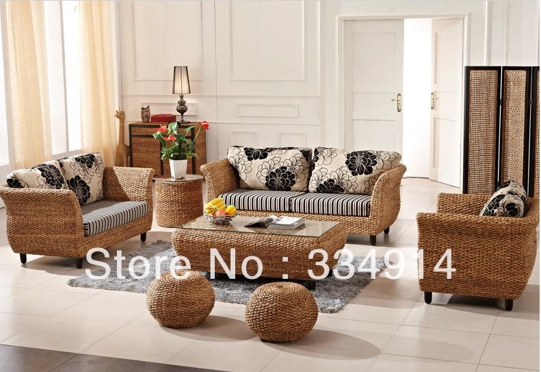 Muebles de rattan mimbre sof de moda sala de estar sof for Muebles de rattan