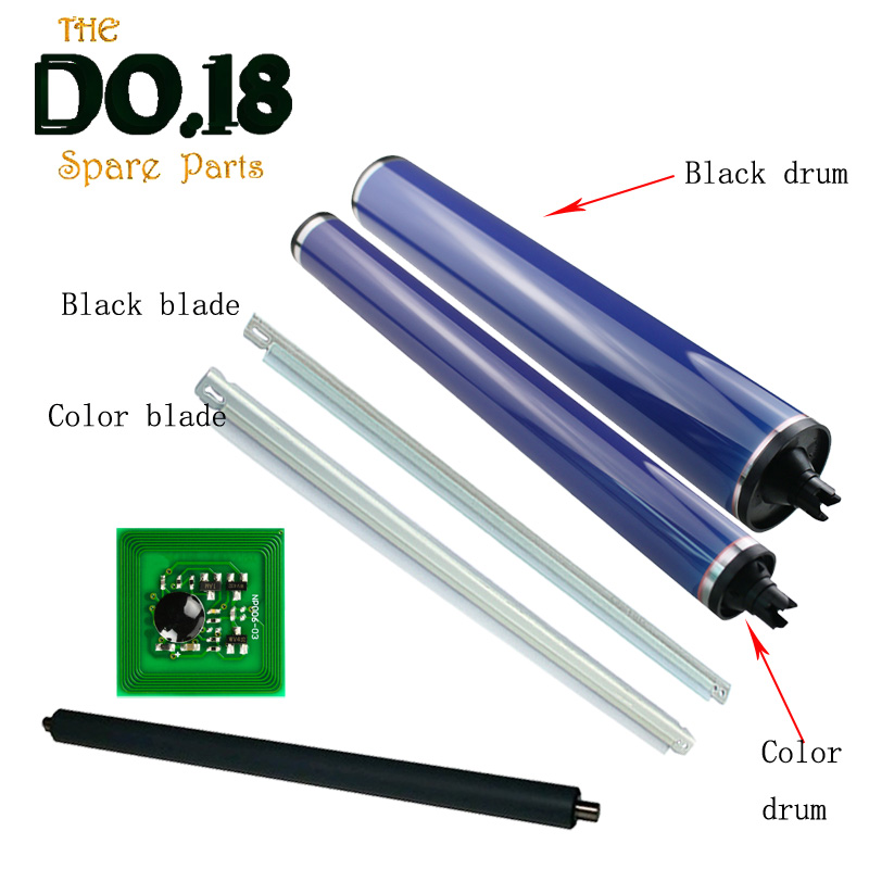 1Set PCR Primary Charge Roller+013R00663 013R00664 drum chip+ Cleaning Blade+OPC Drum for <font><b>Xerox</b></font> dc 240 250 242 252 260 <font><b>550</b></font> 560 image
